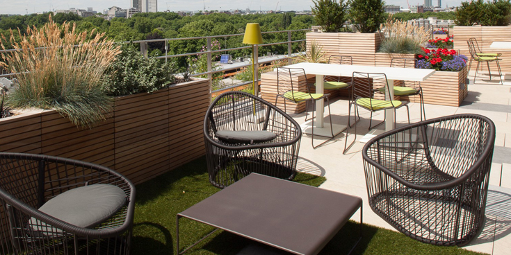 Photo of the London office's terrace